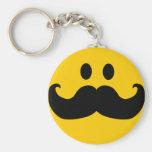 Moustache Smiley (Customisable background colour)