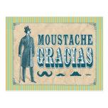 Moustache Thank You Postcard