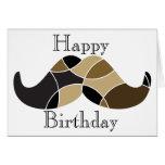 Moustache themed birthday card