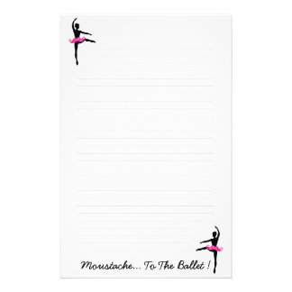 Moustache.. To The Ballet Stationery Design