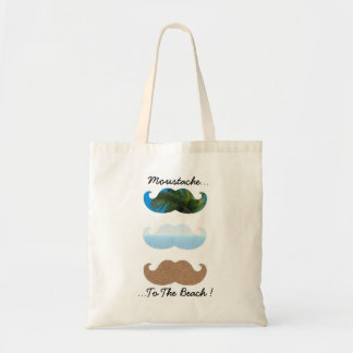 Moustache.. To The Beach! Budget Tote Bag
