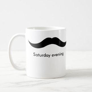 moustache weekend coffee mug