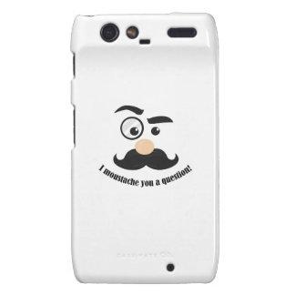 Moustache You Droid RAZR Cases