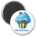 Moustached Cupcake Magnets