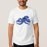 moustached octopus with a monocle tshirts