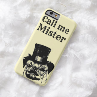 Moustached pug barely there iPhone 6 case