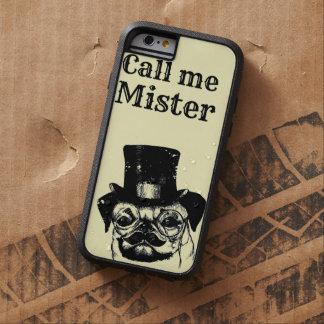 Moustached pug tough xtreme iPhone 6 case