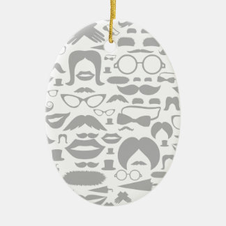 Moustaches a background ceramic ornament
