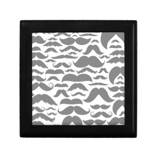 Moustaches a background gift box