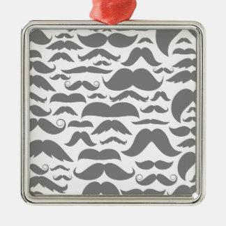Moustaches a background metal ornament