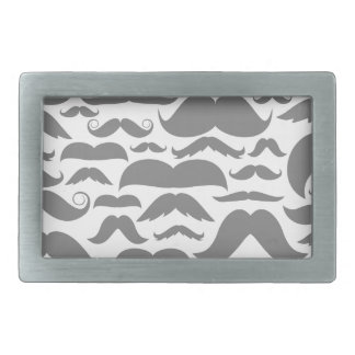 Moustaches a background rectangular belt buckle