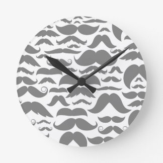 Moustaches a background round clock