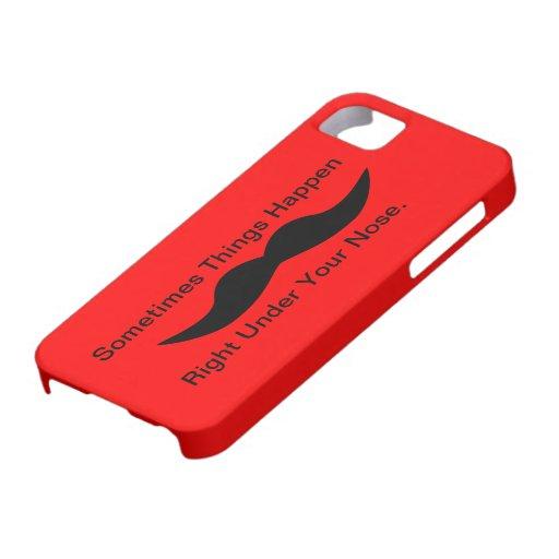 Moustaches Happen iPhone 5 Cover