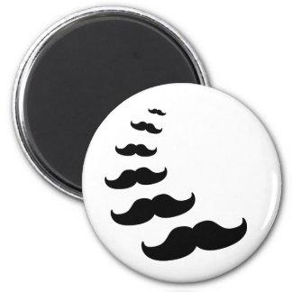 Moustaches Fridge Magnet