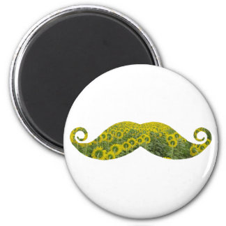 Moustcahe, Mustache  Flowers Funny  Magnet