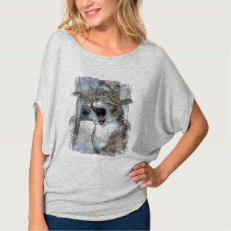 Mouth Cat Photo Design on T-Shirt