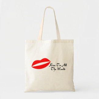 Mouth Lips & Kiss To All The World Tote Bag