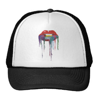 Mouth painting Kiss Art Cap