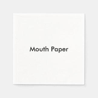 """""""Mouth Paper"""" Paper Napkins Disposable Serviette"""