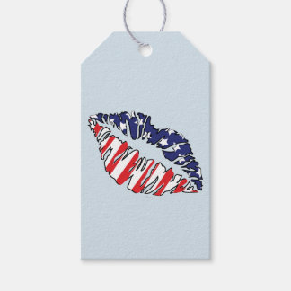 MOUTH USA CARTOON GIFT TAG MATT