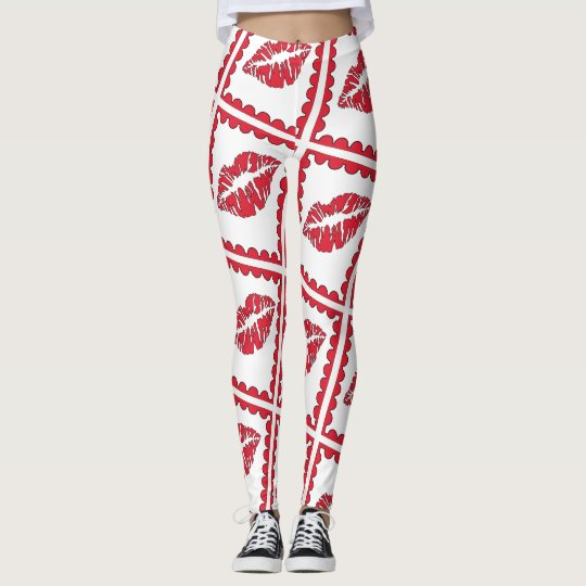 MOUTH VALENTINE  CARTOON Leggings