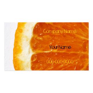Mouthwatering oorange slice business card