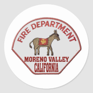 movalfire classic round sticker