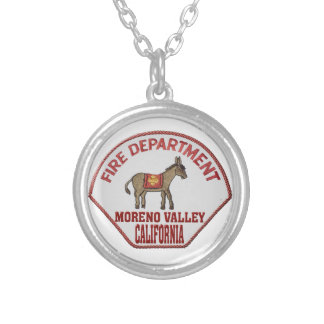 movalfire silver plated necklace