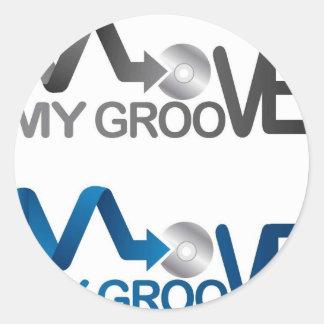 Move My Groove Merch Round Sticker
