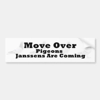 Move over Pigeons Bumper Sticker