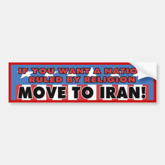 Move To Iran Bumper Sticker