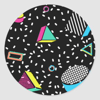 move to memphis classic round sticker