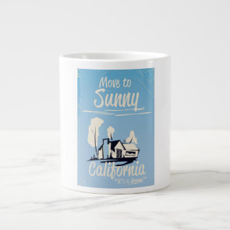 Move to sunny California vintage poster Large Coffee Mug