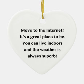 Move to the Internet Geek Ceramic Heart Decoration