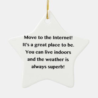 Move to the Internet Geek Ceramic Star Decoration
