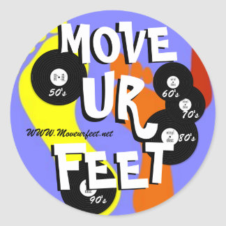 Move ur feet DJ service Classic Round Sticker