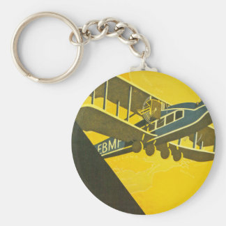 Move With the Times Basic Round Button Key Ring