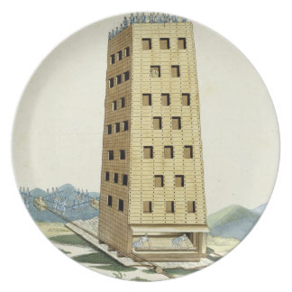 Moveable tower, designed after Caesar's tower at N Party Plate