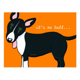 Moved Bull Terrier Dog New Address Postcard