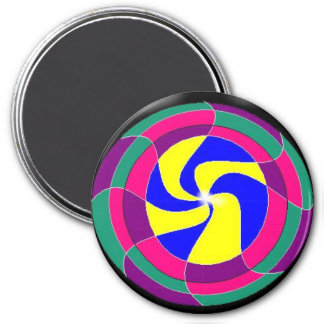 Movement Mandala 7.5 Cm Round Magnet