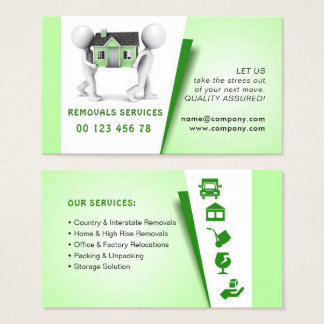 Movers, Packing & unpacking service Business Card