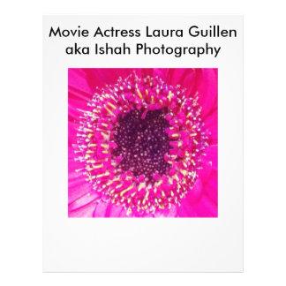 Movie Actress Laura Guillen aka Ishah Photography 21.5 Cm X 28 Cm Flyer