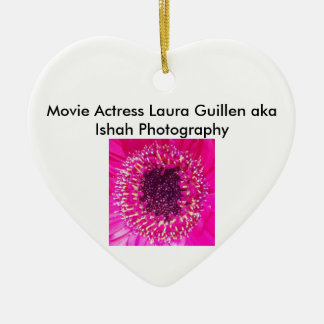 Movie Actress Laura Guillen aka Ishah Photography Ceramic Heart Decoration