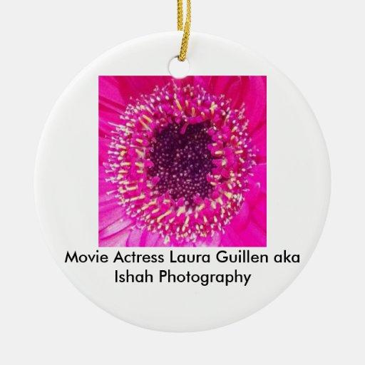 Movie Actress Laura Guillen aka Ishah Photography Christmas Ornaments