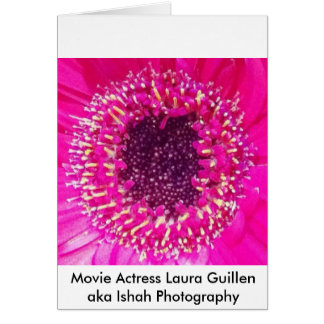 Movie Actress Laura Guillen aka Ishah Photography Greeting Card