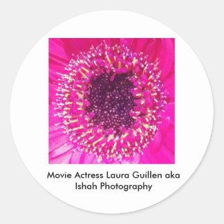 Movie Actress Laura Guillen aka Ishah Photography Round Sticker