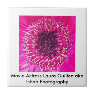 Movie Actress Laura Guillen aka Ishah Photography Ceramic Tile