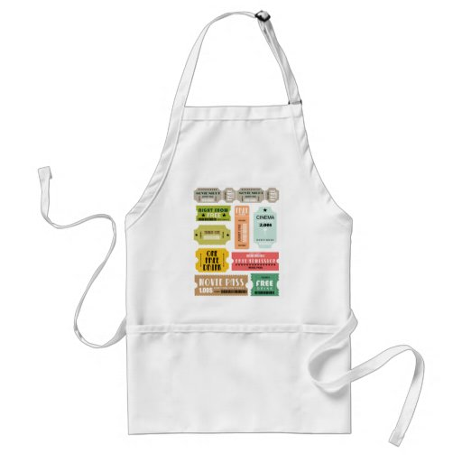 Movie Admission Tickets Aprons