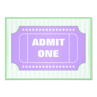 Movie Birthday Party Purple Green Card