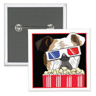 Movie Bulldog 15 Cm Square Badge